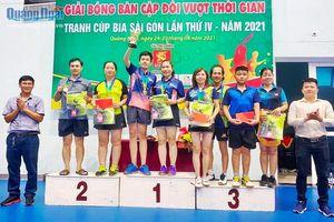 Sôi nổi giải Bóng bàn cặp đôi vượt thời gian tranh cúp 'Bia Sài Gòn' lần thứ IV- năm 2021