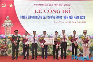 Huyện Giồng Riềng, Kiên Giang đạt chuẩn nông thôn mới