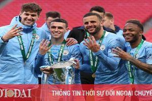 Kết quả CK Cúp Liên đoàn Anh (26/4): Thiếu Mourinho, Tottenham 'dâng' cúp cho Man City