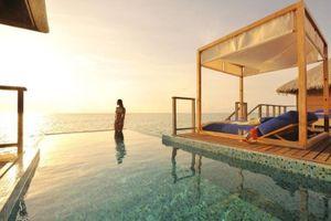 Resort trên biển ở thiên đường nghỉ dưỡng Maldives