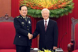 Tổng Bí thư Nguyễn Phú Trọng, Chủ tịch nước Nguyễn Xuân Phúc tiếp Bộ trưởng Quốc phòng Trung Quốc
