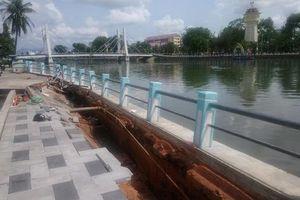 Mới chỉnh trang, kè sông Cà Ty - Bình Thuận tan nát sau cơn mưa