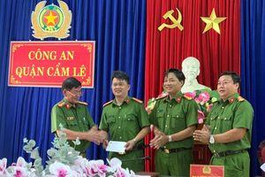 Khen thưởng đội Cảnh sát Hình sự Công an quận Cẩm Lệ