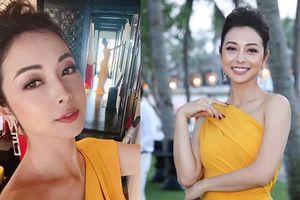 'Hoa hậu 4 con' Jennifer Phạm khoe thân hình đồng hồ cát qua gương