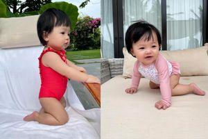 Con gái Cường Đô La diện bikini 'chất lừ', dân mạng ngây ngất trước vẻ đáng yêu khó cưỡng
