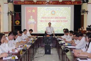 Tòa án nhân dân tỉnh Sơn La tổ chức phiên tòa rút kinh nghiệm theo tinh thần cải cách tư pháp