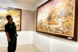 Ghi lại lịch sử Trường Sơn bằng hội họa