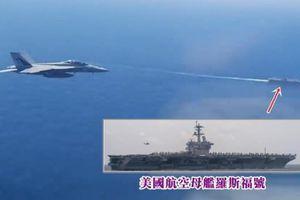 Lộ diện video máy bay Nga tiếp cận tàu sân bay Mỹ bị tiêm kích Mỹ bay lên ngăn chặn