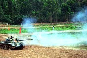 Lữ đoàn Xe tăng 203 giành giải Nhì tại hội thao 'Kíp xe tăng giỏi' toàn quân
