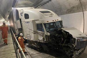 Tài xế gây tai nạn trong hầm Hải Vân 2: Rất may xe di chuyển trong đường hầm chỉ 1 chiều