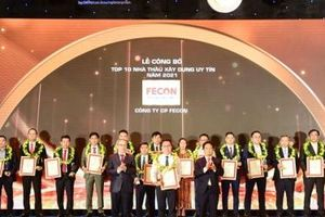 FECON tăng 4 bậc trên bảng xếp hạng Top 10 nhà thầu uy tín năm 2021