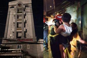 Cứu 24 người mắc kẹt trong đám cháy tại chung cư lúc nửa đêm