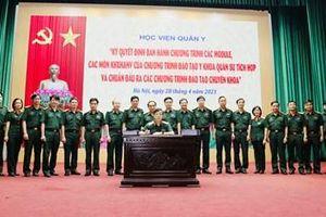 Học viện Quân y đào tạo y khoa quân sự theo hướng tích hợp dựa trên năng lực và chuẩn đầu ra