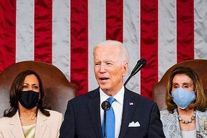 Tổng thống Mỹ Joe Biden phát biểu hơn một tiếng trước Quốc hội