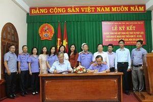 VKSND tỉnh Phú Yên ký kết chương trình phối hợp với Ban Tuyên giáo Tỉnh ủy và Báo Phú Yên