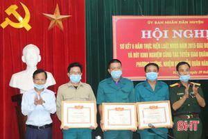 Vũ Quang tiếp tục thực hiện tốt Luật Nghĩa vụ quân sự và tuyển giao quân