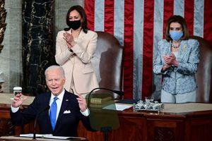 Hình ảnh lịch sử hai người phụ nữ quyền lực đứng sau Tổng thống Biden tại Quốc hội