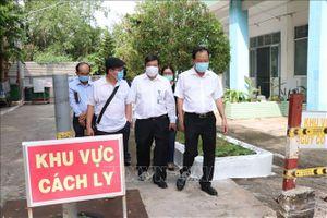Lãnh đạo Bộ Y tế kiểm tra công tác phòng, chống dịch COVID-19 tại Bến Tre