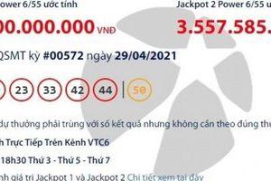 Kết quả xổ số Vietlott 29/4: Một người trúng giải khủng gần 50 tỷ