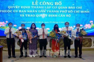 UBND TP Hồ Chí Minh công bố quyết định bổ nhiệm lãnh đạo 5 cơ quan báo chí