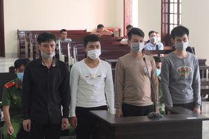 Tuyên án 4 bị cáo bắt giữ người trái pháp luật và tàng trữ trái phép chất ma túy