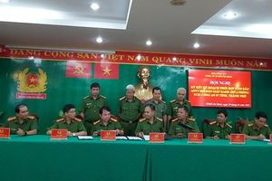 Cảnh sát hình sự Công an TPHCM và 6 tỉnh giáp ranh ký kết phối hợp bảo đảm ANTT