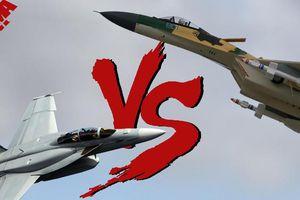 Khi F/A-18E/F Super Hornet của Mỹ đấu với Su-30 của Nga