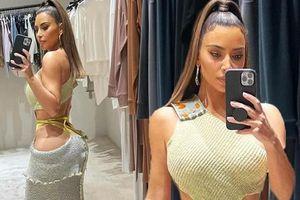 Kim Kardashian lại gây 'bão' mạng xã hội khi khoe vòng 3 hơn 100cm
