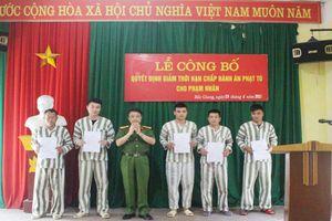 Trại tạm giam Công an Bắc Giang: 17 phạm nhân được giảm thời hạn chấp hành án tù