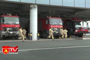 Cảng hàng không quốc tế Nội Bài đặc biệt chú trọng công tác phòng cháy chữa cháy