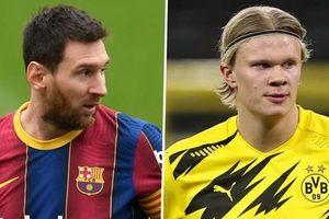 Messi đồng ý giảm lương giúp Barca chiêu mộ Haaland