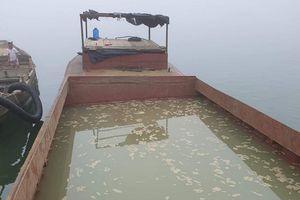Công an huyện Quảng Ninh: Bắt 3 thuyền khai thác cát trái phép trên sông Nhật Lệ và Long Đại