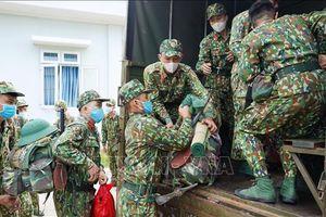 Chi viện cho địa bàn biên giới Tây Ninh để chống dịch COVID-19