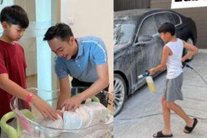 Lễ 1/5 biến thành Quốc tế lao động của quý tử Subeo: Tranh thủ giúp bố Cường Đô La làm việc gì với siêu xe thế này?