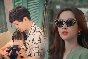 Con gái mới 3 tuổi, ông xã Đặng Thu Thảo đã quyết định 'truyền nghề' cho con