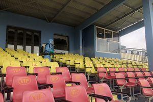 Ban tổ chức sân Thanh Hóa tăng cường công tác phòng chống dịch COVID-19 trước vòng đấu thứ 12