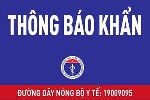 Bộ Y tế tìm người trên các chuyến bay Hà Nội đi Đà Nẵng và chiều ngược lại