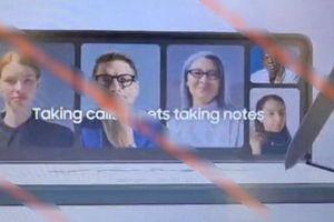 Galaxy Z Fold3 lộ ảnh thực tế cho thấy camera selfie dưới màn hình, hỗ trợ S Pen