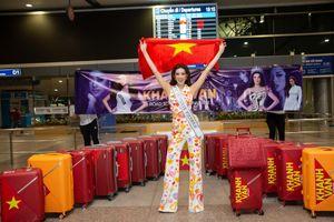 Khánh Vân vượt 'bão COVID' lên đường chinh phục Miss Universe