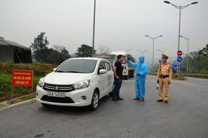 Lập chốt kiểm dịch y tế hoạt động 24/24h tại cao tốc Nội Bài – Lào Cai