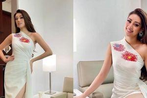 Hoa hậu Khánh Vân cập nhật hình ảnh đầu tiên trên đất Mỹ, diện mẫu váy vô cùng ý nghĩa