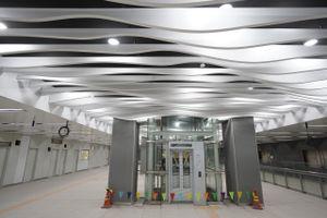 Tầng 1 ga ngầm Ba Son tuyến metro số 1 cán đích sớm