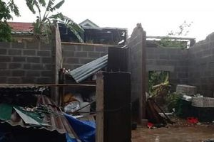 Quảng Trị: Giông lốc khiến hàng chục ngôi nhà bị tốc mái