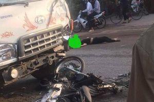 Xe máy đấu đầu ô tô tải ở Ba Vì, 2 thanh niên tử vong tại chỗ