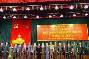 Ông Trần Lưu Quang nhận quyết định làm Bí thư Thành ủy Hải Phòng
