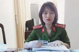 Cảm phục nữ Thượng úy Công an mắc trọng bệnh vẫn tận tụy với công việc
