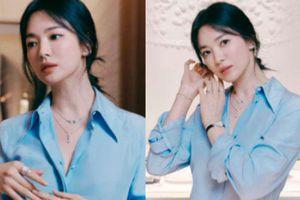 Nửa đêm Song Hye Kyo 'đánh úp' bộ ảnh đẹp xỉu: Diện sơ mi đơn giản mà sang hết nấc, gương mặt chính là 'công thần'