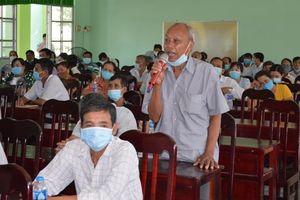 Những người ứng cử đại biểu Hội đồng nhân dân tỉnh vận động bầu cử tại huyện Châu Thành