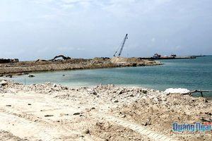 Vũng neo trú tàu thuyền Lý Sơn: Khẩn trương hoàn thành đưa vào sử dụng