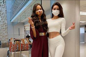 Khánh Vân hội ngộ Hoa hậu Hoàn Vũ Nhật Bản tại sân bay Florida, Mỹ
